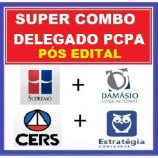 SUPER COMBO PCPA DELEGADO - PÓS EDITAL - SUPREMO + DAMÁSIO + CERS + ESTRATÉGIA 2020