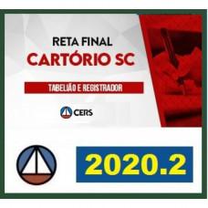 CARTÓRIO – SANTA CATARINA - SC (CERS 2020.2) - RETA FINAL 1ª FASE
