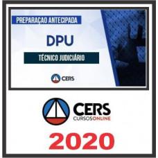 DPU - TÉCNICO DA DEFENSORIA PÚBLICA DA UNIÃO - DPU (CERS 2020)