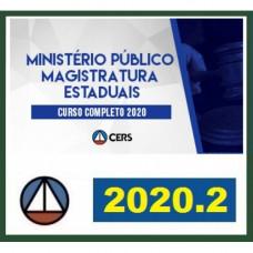 MAGISTRATURAS E MP ESTADUAIS - CERS 2020.2 - MINISTÉRIO PÚBLICO, PROMOTOR, JUIZ