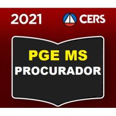 PGE MS - PROCURADORIA DO ESTADO DO MATO GROSSO DO SUL - PROCURADOR - PGEMS - (CERS 2021)