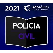 POLÍCIA CIVIL - AGENTE - INVESTIGADOR - INSPETOR - ESCRIVÃO - PC - DAMÁSIO 2021