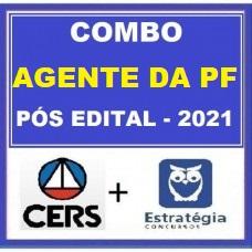 COMBO - AGENTE DA  POLÍCIA FEDERAL - PF - CERS + ESTRATÉGIA 2021 - PÓS EDITAL