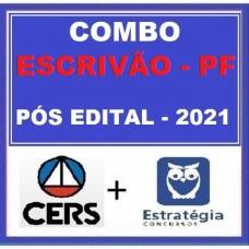 COMBO - ESCRIVÃO DA  POLÍCIA FEDERAL - PF - CERS + ESTRATÉGIA 2021 - PÓS EDITAL