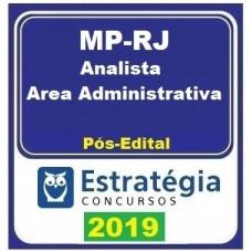 MP RJ - ANALISTA ADMINISTRATIVO - ESTRATEGIA - 2019.2 - PÓS EDITAL