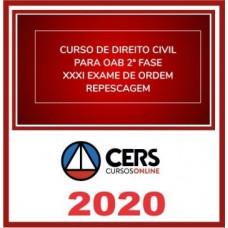 2ª (segunda) Fase OAB XXXI (31º Exame) DIREITO CIVIL - CERS 2020