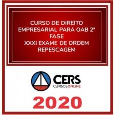 2ª (segunda) Fase OAB XXXI (31º Exame) DIREITO EMPRESARIAL - CERS 2020