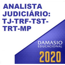 ANALISTA DE TRIBUNAIS FULL (DAMÁSIO 2020) TJ TRF TRT TST MP