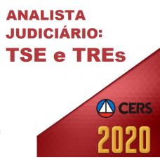 ANALISTA JUDICIÁRIO DE TRIBUNAIS ELEITORAIS (CERS 2020) - TSE - TREs