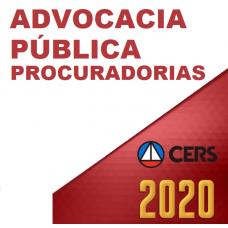 ADVOCACIA PÚBLICA - PROCURADORIAS (CERS 2020)
