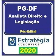 PGDF - ANALISTA JURÍDICO - DIREITO E LEGISLAÇÃO  - PÓS EDITAL - ESTRATÉGIA 2019.2