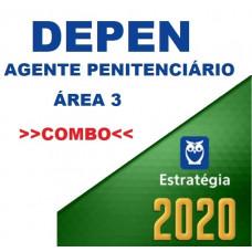 DEPEN - AGENTE PENITENCIÁRIO - ÁREA 03 - TEORIA + PASSO ESTRATÉGICO - ESTRATÉGIA 2020