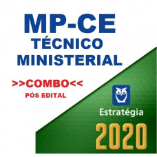 MPCE - TÉCNICO MINISTERIAL - TEORIA + PASSO ESTRATÉGICO - PÓS EDITAL - ESTRATÉGIA 2020