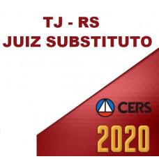 JUIZ RS - JUIZ SUBSTITUTO RIO GRANDE DO SUL (CERS  2020)