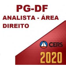 PGDF - ANALISTA JURÍDICO PG DF - ÁREA DIREITO - PÓS EDITAL  (CERS  2020)