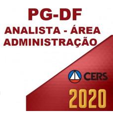 PGDF - ANALISTA JURÍDICO PG DF - ÁREA ADMINISTRAÇÃO - PÓS EDITAL  (CERS  2020)