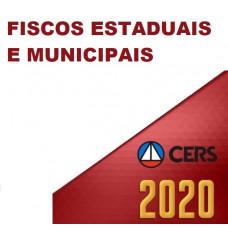 FISCOS ESTADUAIS E MUNICIPAIS, SEFAZ, AUDITOR FISCAL, ICMS E ISS (CERS 2020)