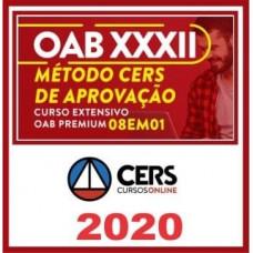 RATEIO OAB PREMIUM 1ª FASE XXXII (32) - 8 EM 1 -  MÉTODO CERS DE APROVAÇÃO PARA O XXXII EXAME DE ORDEM 2020