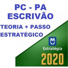 ESCRIVÃO PC PA (POLICIA CIVIL DO PARÁ - PCPA) TEORIA + PASSO ESTRATÉGICO - ESTRATEGIA 2020