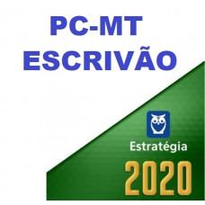 ESCRIVÃO - PC MT ( POLÍCIA CIVIL DO MATO GROSSO - PCMT ) - ESTRATEGIA 2020