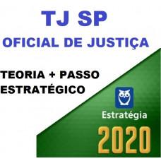 COMBO TJ SP - OFICIAL DE JUSTIÇA -TJSP - TEORIA + PASSO ESTRATÉGICO - ESTRATEGIA 2020