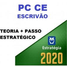 COMBO PC CE - ESCRIVÃO DE POLÍCIA - PCCE - TEORIA + PASSO ESTRATÉGICO - ESTRATEGIA 2020