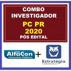 COMBO PC PR - INVESTIGADOR DA POLÍCIA CIVIL DO PARANÁ - PCPR - ALFACON + ESTRATÉGIA - PÓS EDITAL 2020