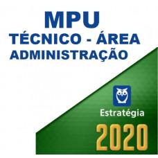 MPU - TÉCNICO - ESPECIALIDADE ADMINISTRAÇÃO - ESTRATÉGIA - 2020