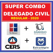 SUPER COMBO DELEGADO CIVIL REGULAR - SUPREMO + DAMÁSIO + CERS + ESTRATÉGIA 2020