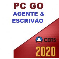 AGENTE E ESCRIVÃO - PC GO ( POLÍCIA CIVIL DE GOIÁS - PCGO ) - CERS 2020